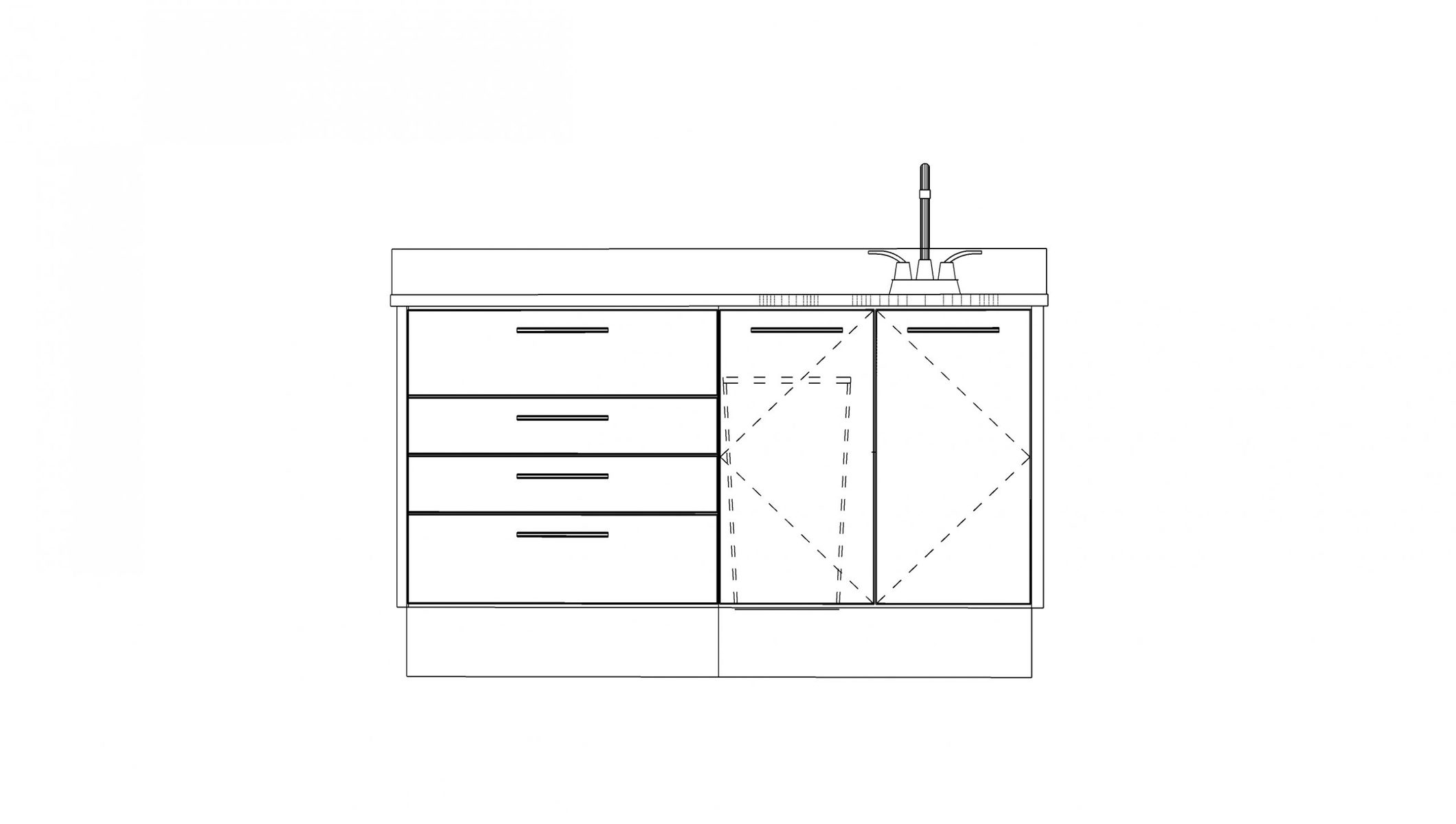 Dental side console operatory furniture and cabinets